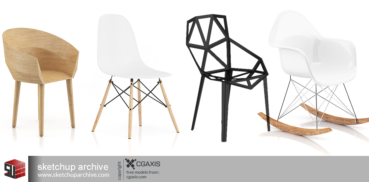 CGaxis Chairs-Free - Sketchup Archive