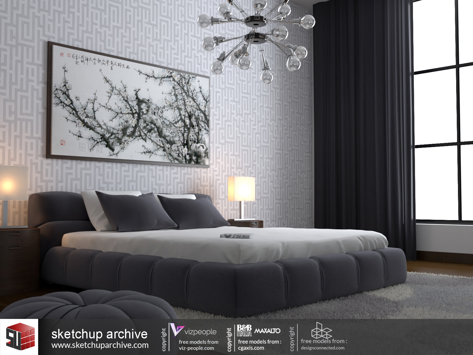Bed Room 1 Sketchup Archive