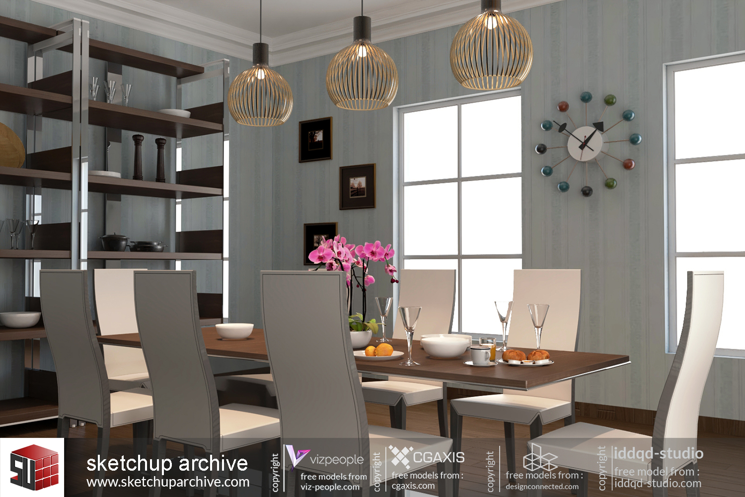 Dining Room 2 - Sketchup Archive